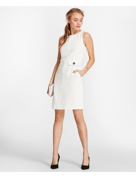 Cotton Boucle Shift Dress by Brooks Brothers