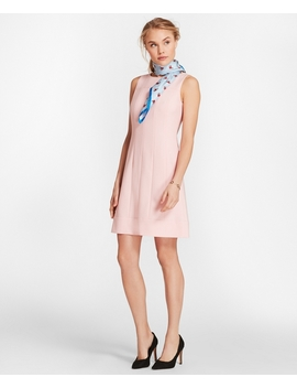 Wool Blend Twill Shift Dress by Brooks Brothers