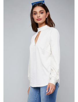 Hammered Satin Top by Bebe