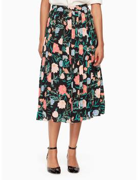 Blossom Pleated Skirt by Kate Spade