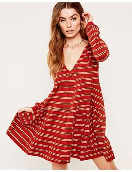 Striped Tiered Dress by Glassons