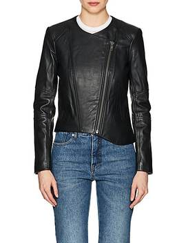 Leather Crop Jacket by Helmut Lang