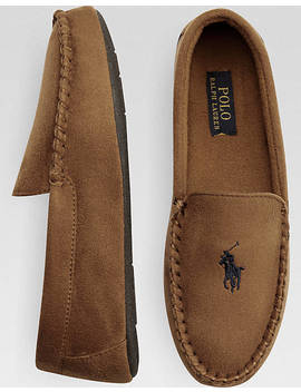 Polo Ralph Lauren Dezi Ii Tan Moccasin Slippers by Mens Wearhouse