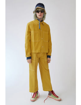 Unisex Denim Jacket Burnt Mustard Yellow by Acne Studios