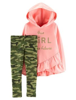 2 Piece French Terry Hoodie & Camo Legging Set by Carter's