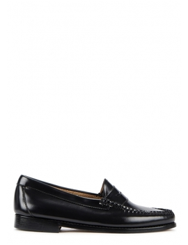 Classic Penny Black Leather Loafers by Bass Weejuns