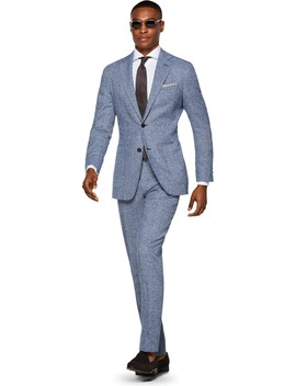 Havana Blue Check by Suitsupply