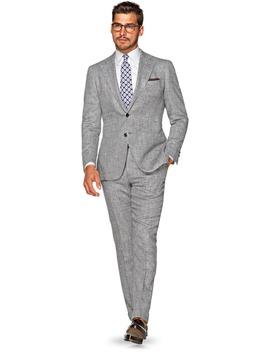 Jort Grey Herringbone by Suitsupply