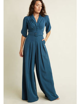 Miss Candyfloss The Embolden Age Jumpsuit In Teal by Miss Candyfloss