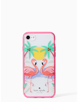 Jeweled Flamingos I Phone 7 & 8 Case by Kate Spade