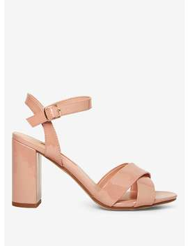 Nude 'serena' Patent Crossover Sandals by Dorothy Perkins