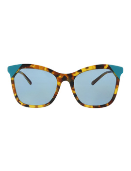 Be4263 371080 Brown Havana/Azure Butterfly Sunglasses by Burberry