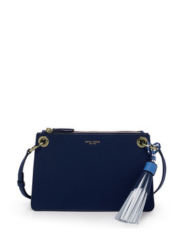 Worth Avenue Double Zip Crossbody by Henri Bendel