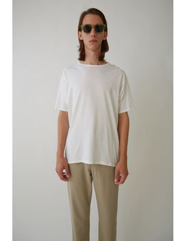 Crewneck T Shirt Optic White by Acne Studios