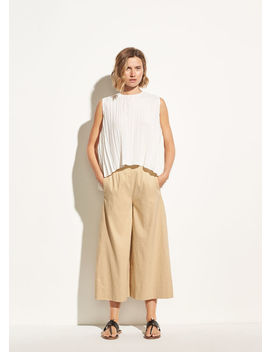 High Rise Linen Culotte by Vince