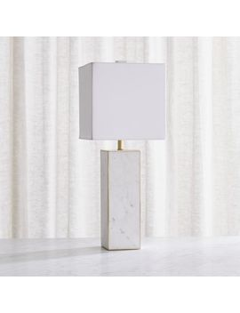 Adele White Marble Table Lamp by Crate&Barrel