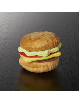 Burger Dog Toy by Crate&Barrel