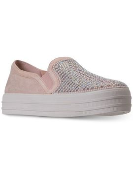 Women's Pink Double Up   Shimmer Shaker Casual Sneakers From Finish Line by Skechers