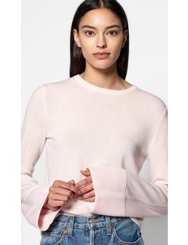 Courtley Wide Sleeve Crop Cashmere Sweater by Equipment