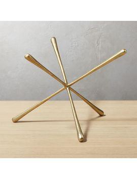 Adra Large Brass Decorative Object by Crate&Barrel