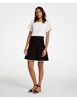 Tipped Flare Sweater Skirt by Ann Taylor