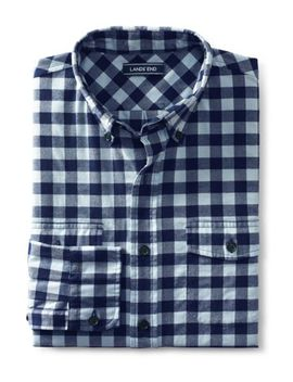 Men's Traditional Fit Comfort First All Season Flannel Shirt by Lands' End
