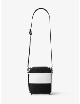 Nikki Striped Calf Leather Crossbody by Michael Kors Collection