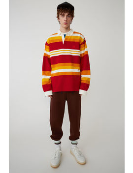 Rugby Shirt Red/Yellow by Acne Studios