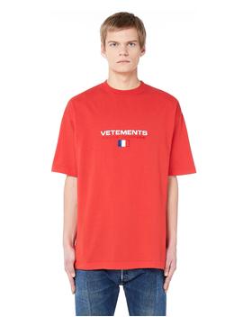 Crew Neck Cotton T Shirt by Vetements