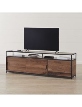"""Knox Black 90"""" Industrial Media Console by Crate&Barrel"""