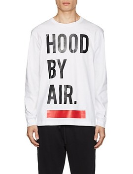 Logo Cotton Long Sleeve T Shirt by Hood By Air
