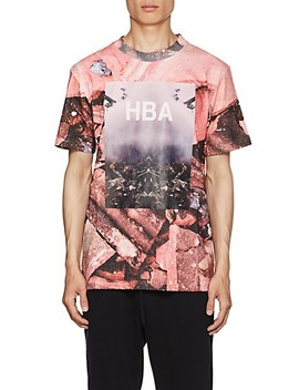 Overcome Print Cotton T Shirt by Hood By Air