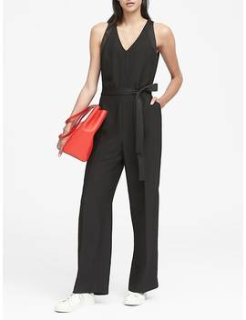 V Neck Jumpsuit by Banana Repbulic
