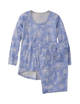 Organic Supersoft Shrink Free Pajama Set, Print by L.L.Bean