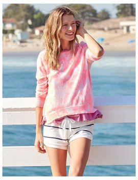 Women's Tie Dye Crew Neck Sweater by Sundry