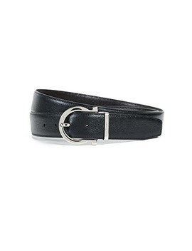 Gancini Adjustable Reversible Belt by Salvatore Ferragamo