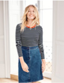 Penny Denim Skirt by Boden