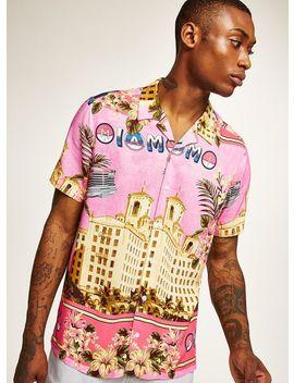 pink-miami-car-short-sleeve-shirt by topman