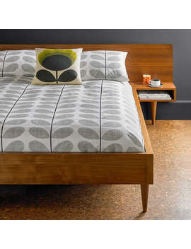 orla-kiely-scribble-stem-cotton-bedding,-light-concrete-grey by orla-kiely