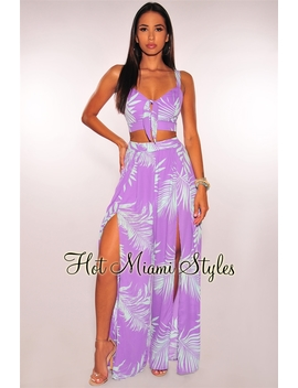 lavender-mint-palm-print-tie-up-slit-palazzo-two-piece-set by hot-miami-style