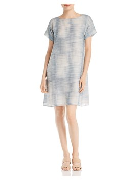 brush-print-shift-dress by eileen-fisher
