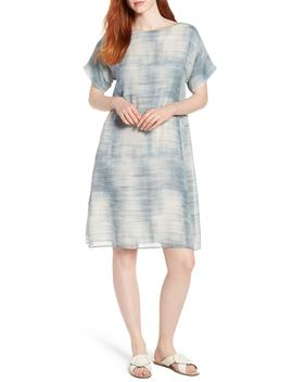 bateau-neck-silk-shift-dress by eileen-fisher
