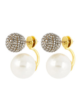 Pearl Ball Ear Jacket by Henri Bendel
