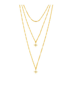 Five & Two Yolanda Triple Necklace by Henri Bendel