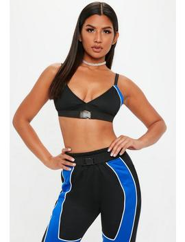 black-blue-piping-detail-bralet by missguided