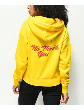 a-lab-lucia-no-thank-you-yellow-hoodie by a-lab