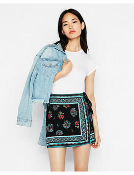 tie-front-wrap-mini-skirt by express