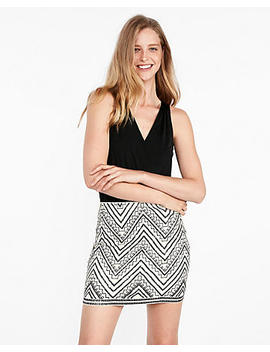 embroidered-sequin-mini-skirt by express