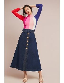 paper-london-wallace-belted-denim-skirt by paper-london