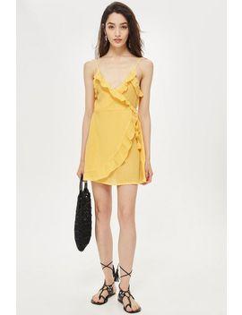 wrap-frill-mini-dress by topshop